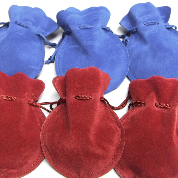 12-Pack, Velour Velvet Jewelry Gift Pouch, 3-inch x 4-inch, 12-Piece