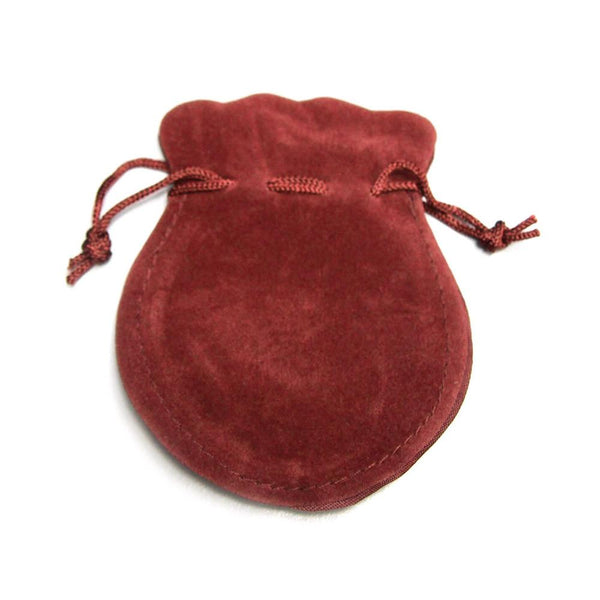 12-Pack, Velour Velvet Jewelry Gift Pouch, 3-inch x 4-inch, 12-Piece, Burgundy