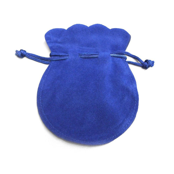 12-Pack, Velour Velvet Jewelry Gift Pouch, 3-inch x 4-inch, 12-Piece, Royal Blue