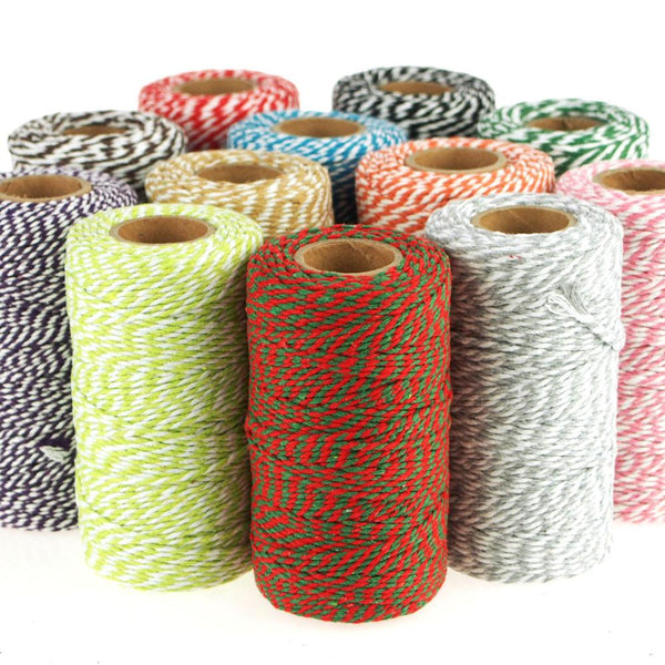 12-Pack, Cotton Bakers Twine Roll, 10 Ply, 100 Yards