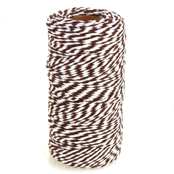 Cotton Bakers Twine Ribbon, 10 Ply, 100 Yards, Brown