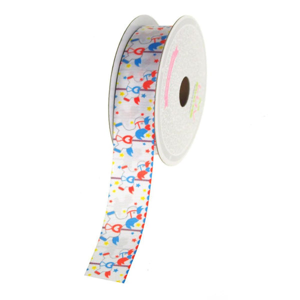 12-Pack, Carousel Poines Grosgrain Ribbon, 7/8-Inch, 10 Yards