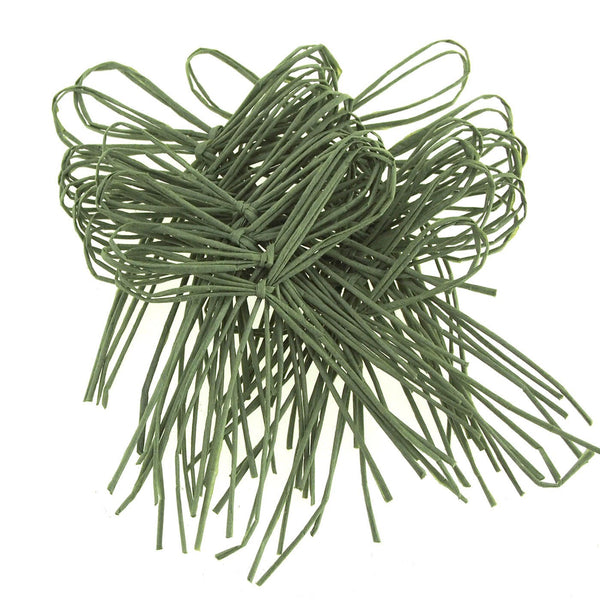 Ready To-Go Raffia Bows, 2-Inch, 24-Piece, Moss Green