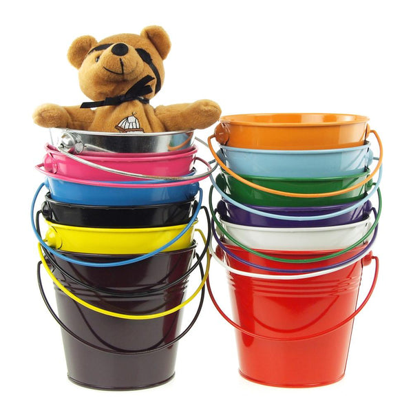 12-Pack, Metal Pail Buckets Party Favor, 5-inch