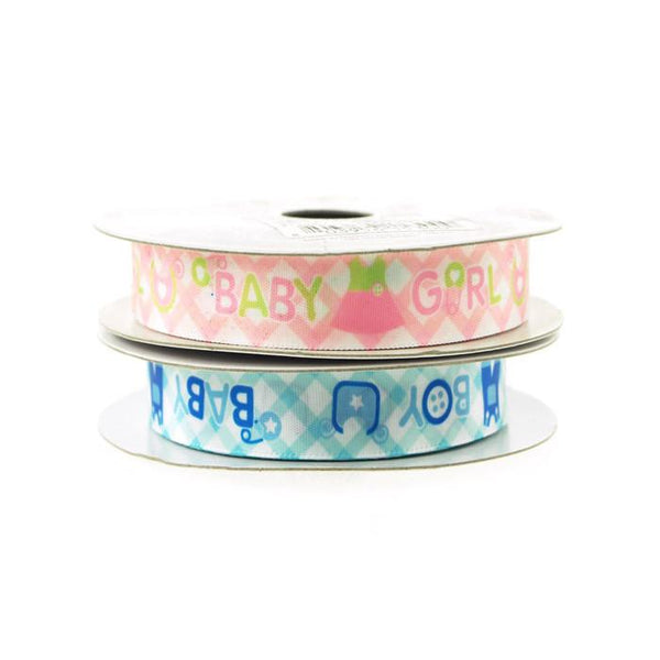 12-Pack, Baby Clothes Baby Boy/Girl Satin Ribbon, 5/8-inch, 10-yard