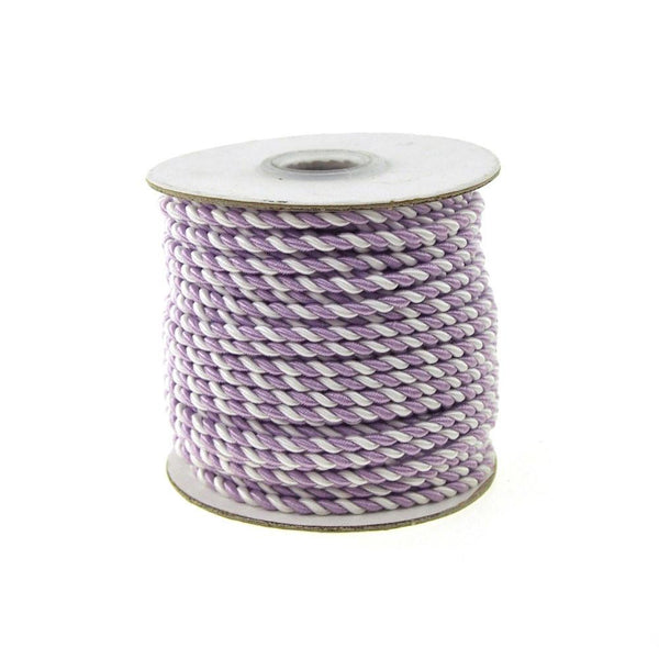 Pastel Twisted Cord Rope 2 Ply, 3mm, 25 Yards, Lavender