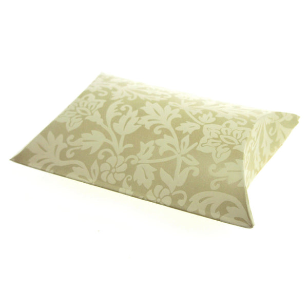 12-Pack, Damask Embossed Favor Boxes, 4-1/2-inch, 12-Piece, Pillow