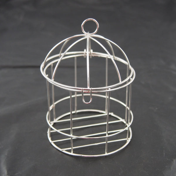 Mini Metal Wire Bird Cage, 4-inch, Silver