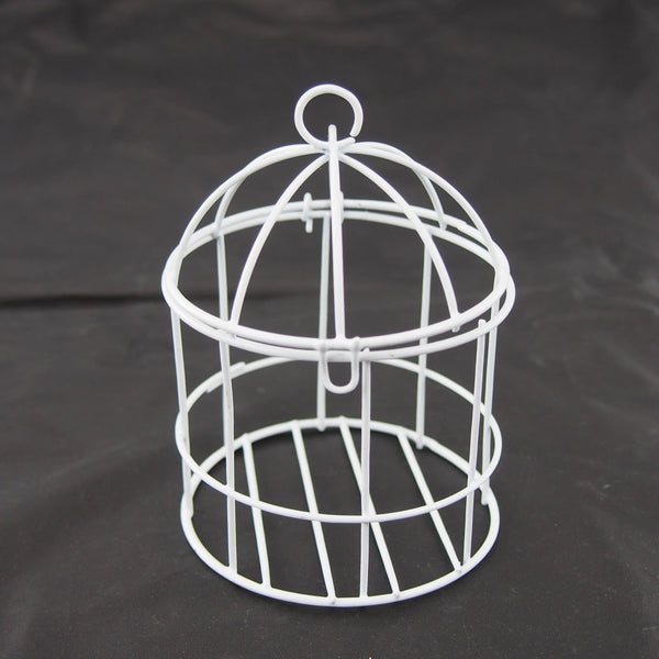 12-Pack, Mini Metal Wire Bird Cage, 4-inch, White