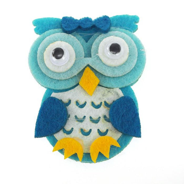 Owl Felt Animals, 2-inch, 12-Piece, Blue