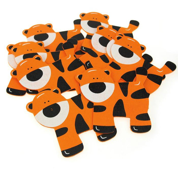 12-Pack, Animal Wooden Baby Favors, 4-1/2-inch, 10-Piece, Tiger