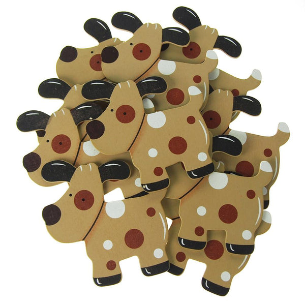 12-Pack, Animal Wooden Baby Favors, 4-1/4-inch, 10-Piece, Dog