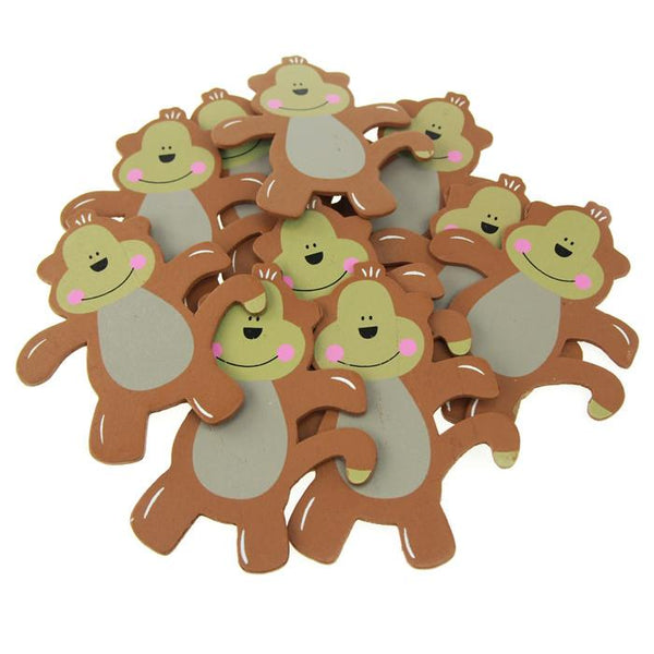 12-Pack, Animal Wooden Baby Favors, 5-inch, 10-Piece, Monkey