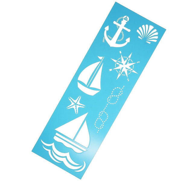 Multi-Media Laser Cut Nautical Stencil, 18-Inch