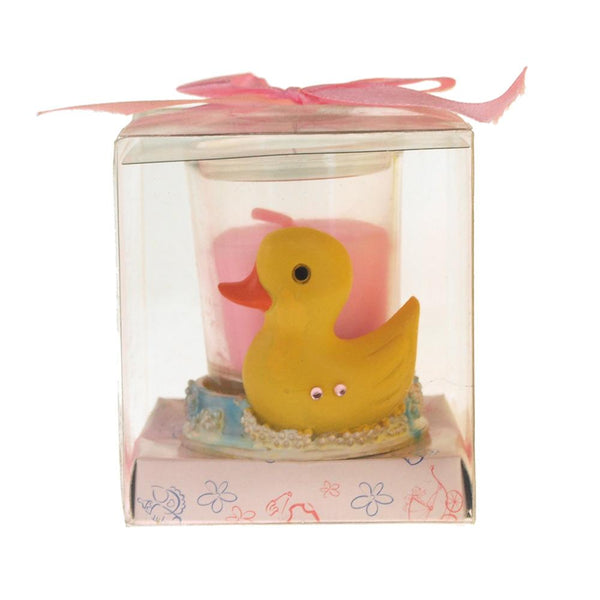 Votive Candle Favors, 2-Inch, Rubber Ducky, Light Pink