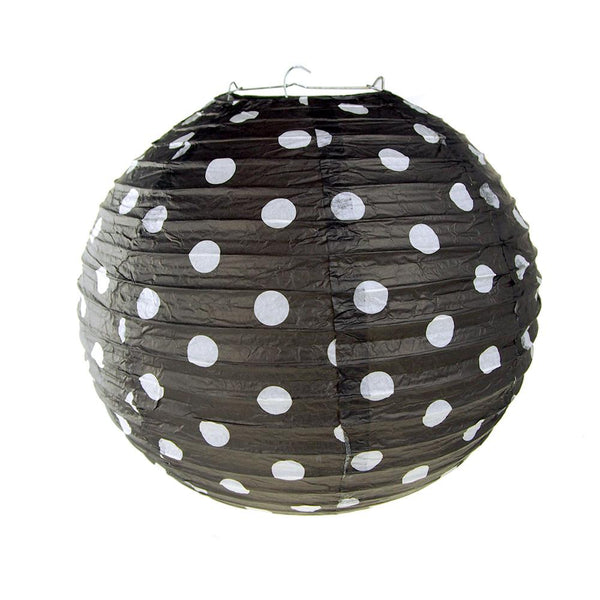 12-Pack, Polka Dot Hanging Paper Lanterns, 12-Inch