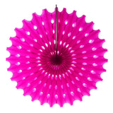 12-Pack, Decoration Hanging Paper Fan, 15-Inch, Fuchsia