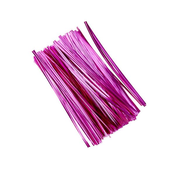 Metallic Craft & Treats Twist Ties, 4-3/4-Inch, 500-Count, Fuchsia