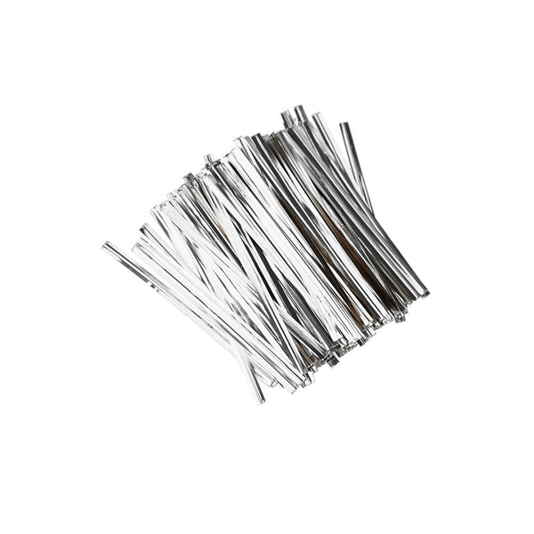 Metallic Craft & Treats Twist Ties, 3-Inch, 700-Count, Silver