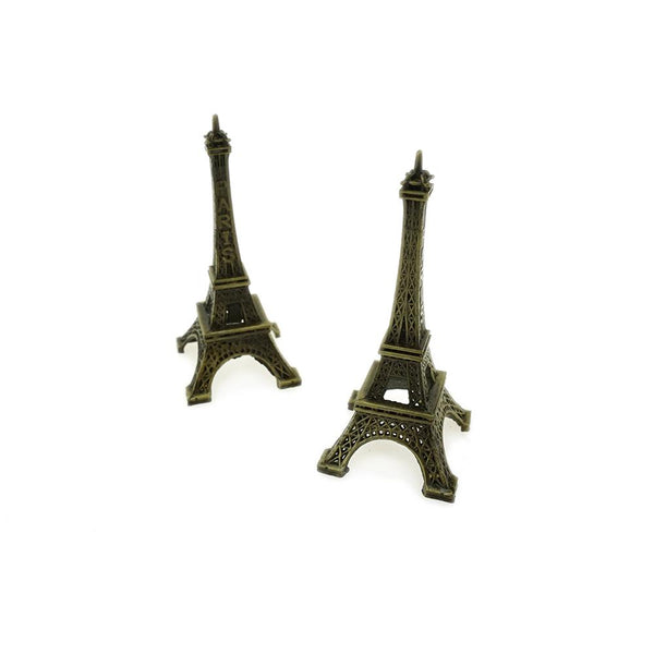 Paris France Eiffel Tower Stand, Bronze, 3-1/4-Inch, 4-Count