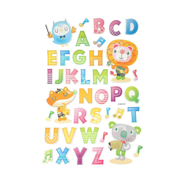Musical Time Alphabet Kid's Room Wall Art Stickers, 39-Piece
