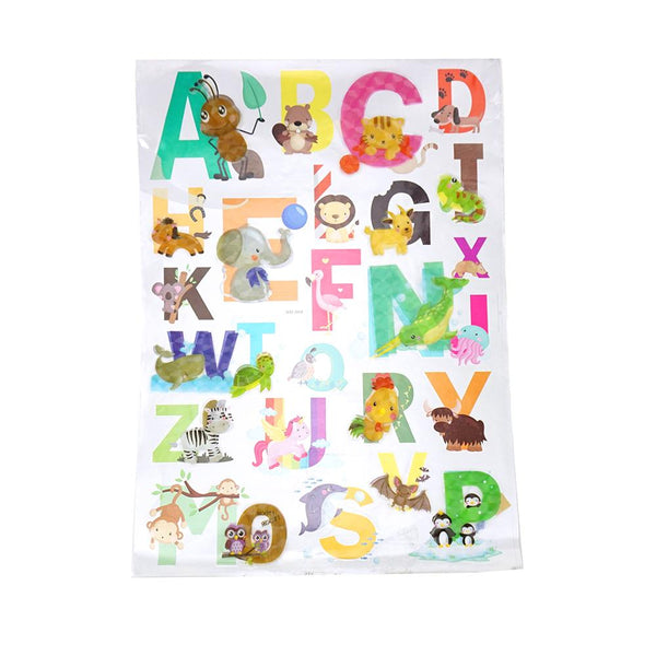 3D Alphabet Kid's Room Wall Art Stickers, Assorted, 23-Piece