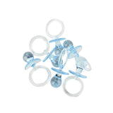 Baby Shower Pacifier Party Favors, 2-1/2-Inch, 6-Count, Blue