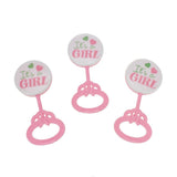 Baby Shower Baby Rattle Party Favors, 3-1/2-Inch, 3-Count
