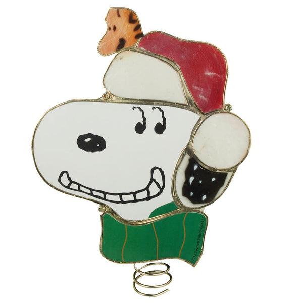 Snoopy Lighted Treetop Plastic Ornament, 9-Inch