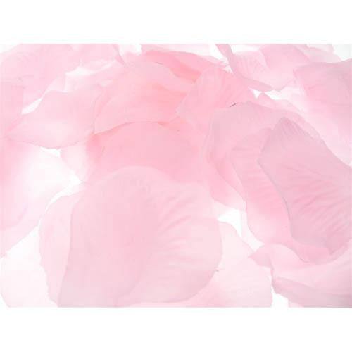 12-Pack, Solid Faux Rose Petals Table Confetti, 400-Piece, Light Pink