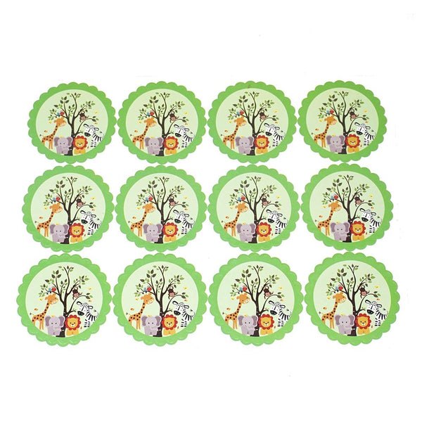 Baby Safari Seal Paper Stickers, Green, 2-1/2-Inch, 12-Count
