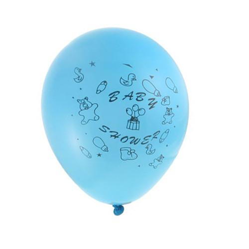 12-Pack, Latex Balloons Baby Shower, Toys, 12-inch, 12-Piece, Blue