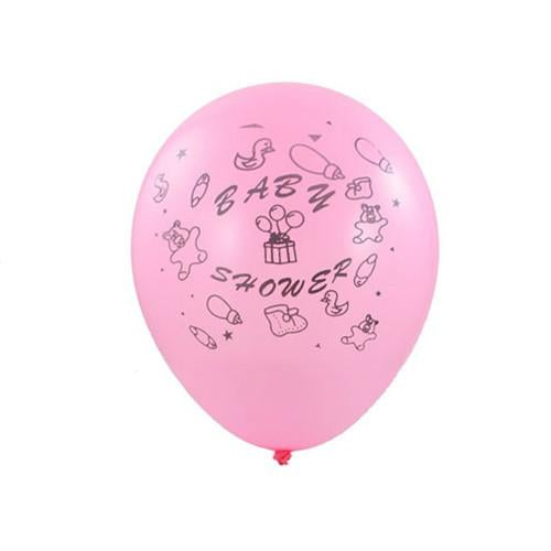12-Pack, Latex Balloons Baby Shower, Toys, 12-inch, 12-Piece, Pink
