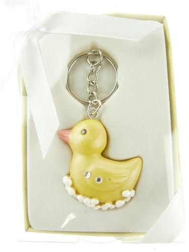 Keychain Favors, 4-Inch, Rubber Duck, Yellow