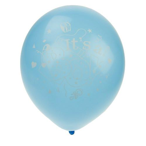 Latex Balloons Baby Shower, Its A Boy, 12-inch, 12-Piece, Blue
