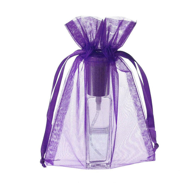 Organza Favor Pouch Bag, 5-Inch x 6-1/2-Inch, 12-Count, Purple