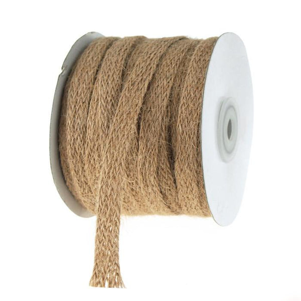 Braided Burlap Jute Ribbon, 3/8-Inch, 25 Yards, Natural