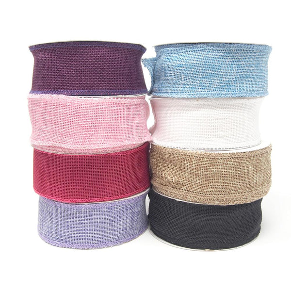 12-Pack, Loose Weave Faux Jute Ribbon, 1-1/2-Inch, 10-Yards