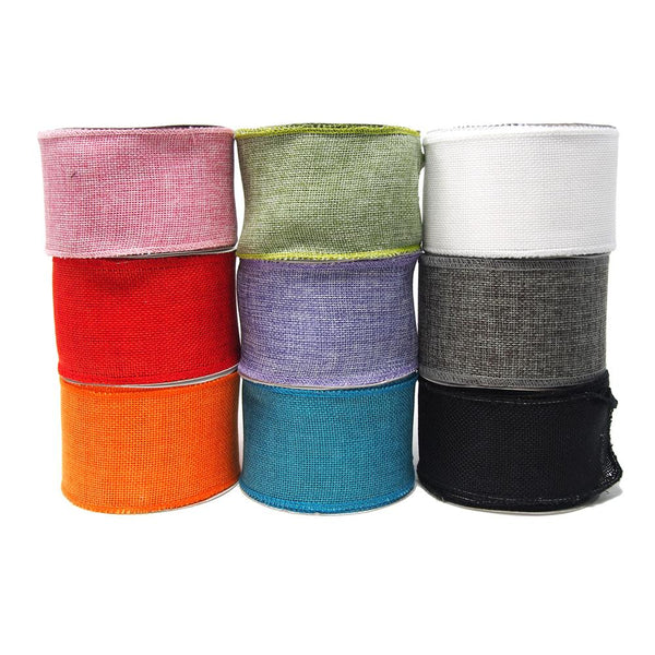 12-Pack,Loose Weave Faux Jute Ribbon, 2-1/2-Inch, 10-Yards