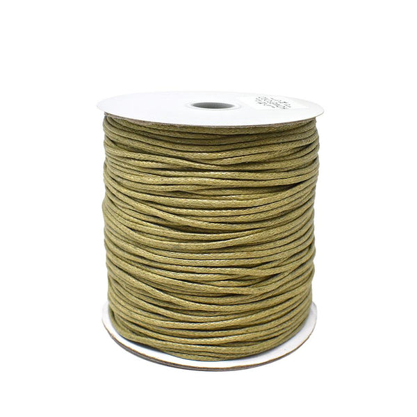 12-Pack, Waxed Cotton Cord, Tan, 1/16-Inch, 100-Yard
