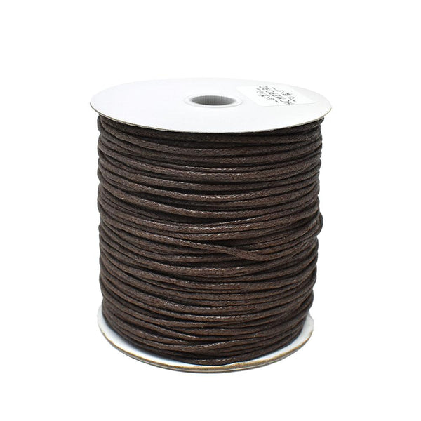 12-Pack, Waxed Cotton Cord, Dark Brown, 1/16-Inch, 100-Yard