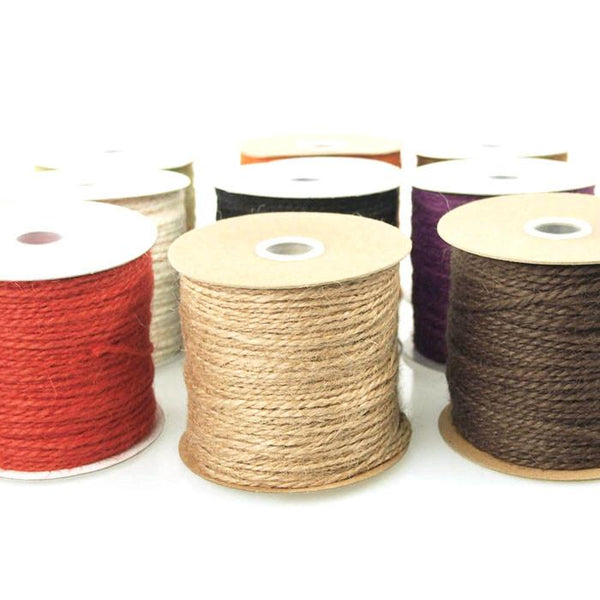 Jute Twine Cord Rope Ribbon, 1/16-Inch, 100 Yards
