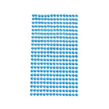 Rhinestone Gems Sticker Strips, 3/16-Inch, 22-Count