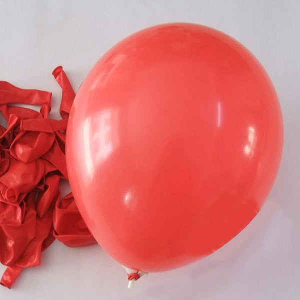12-Pack, Latex Balloons Party Supplies, 12-inch, 12-piece, Red