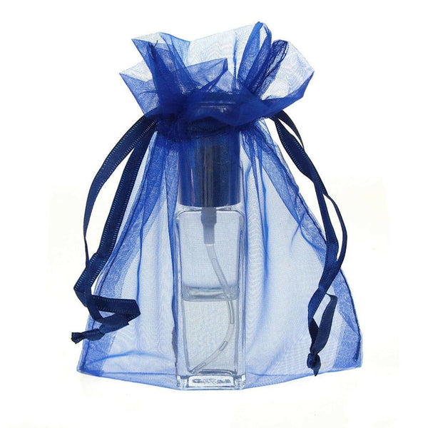 Organza Favor Pouch Bag, 5-Inch x 6-1/2-Inch, 12-Count, Royal Blue