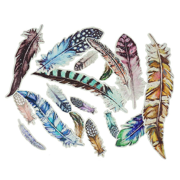 Feather Foil Craft Embellishment Die Cuts, Assorted, 29-Piece