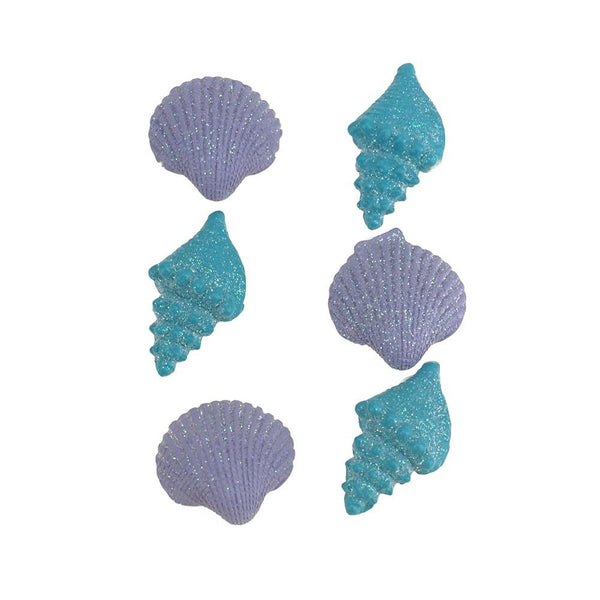 3D Resin Self-Adhesive Seashell Accents, 6-Piece
