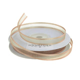 Satin-Edge Sheer Organza Ribbon, 3/8-Inch, 25 Yards