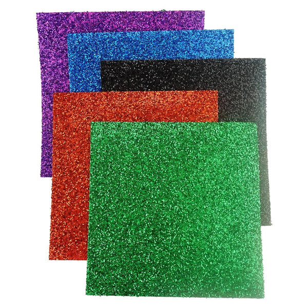 Metallic Grass Card Stock Sheets, Assorted, 12-Inch, 5-Piece, Primary