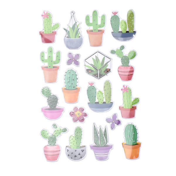 Thorny Succulents Foil Fun Stickers, 18-Piece